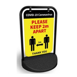 COVID-19 Pavement Swing Signs